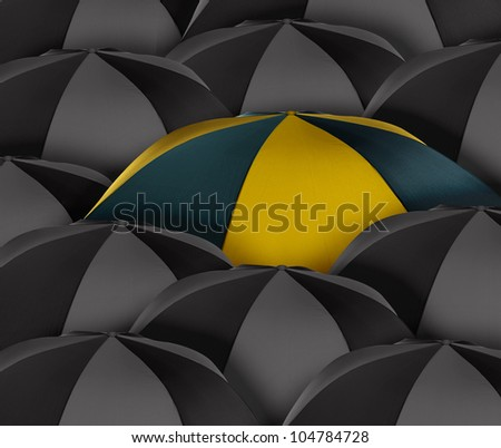 Stand out of a crowd , individuality , Different, special, unique, conceptual  image. - stock photo
