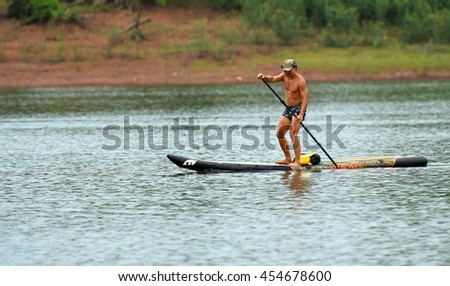 Stand Up Paddle Boarding on the Cam Son lake - Bac Giang, Viet Nam 2016