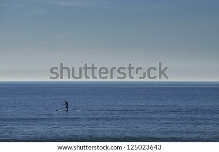 Stand Up Paddle Surfer Silhouette