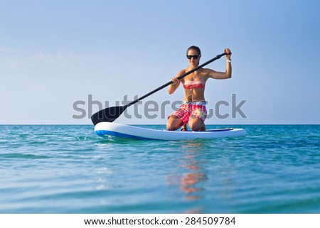 Stand Up Paddling - stock photo