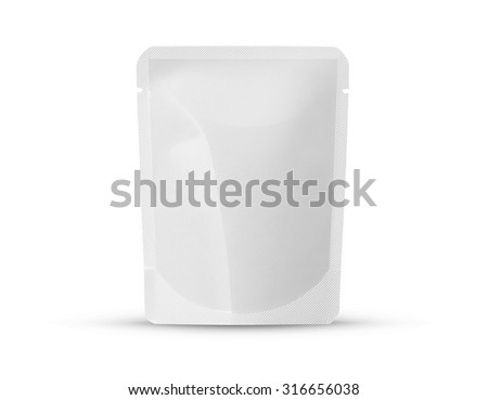 Stand up pouch package template - stock photo