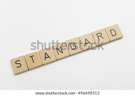 Standard. A word formed with the letters written on wooden dowels