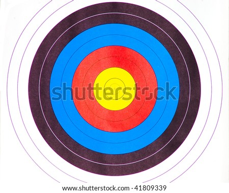 standard colorful bull's eye target for archery