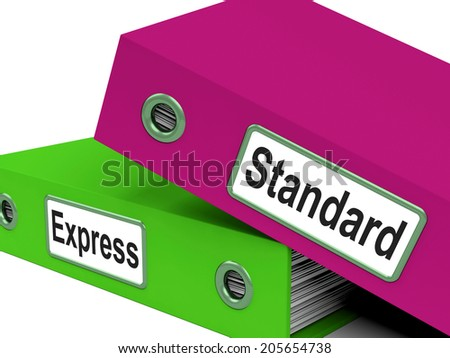 Standard Express Representing Correspondence Regular And Files