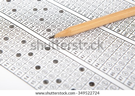 Standardized Test with Pencil - stock photo