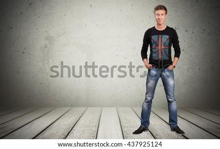 Standing. - stock photo