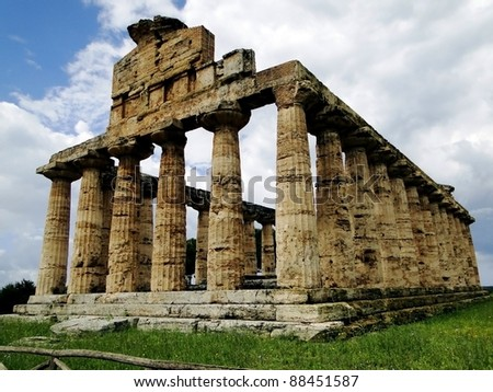 Standing Ancient Greek Temple