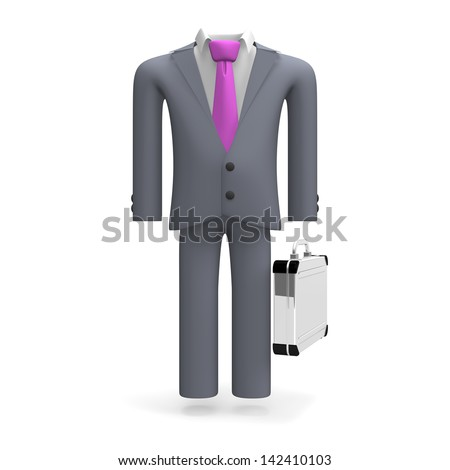 Standing Business Suit Front View