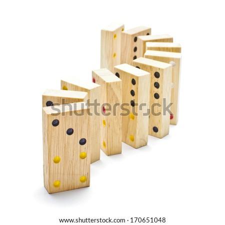 Standing domino tiles - stock photo