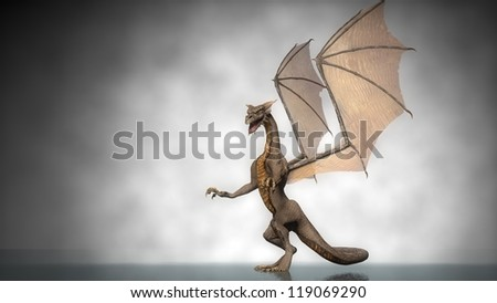 standing dragon - stock photo