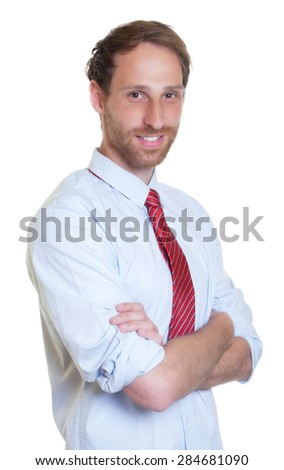 Standing german businessman with beard