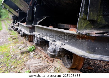 Standing on the narrow-gauge railway siding