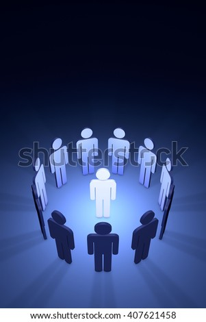 Standing Out from the Crowd. Available in high-resolution and several sizes to fit the needs of your project.3d - stock photo