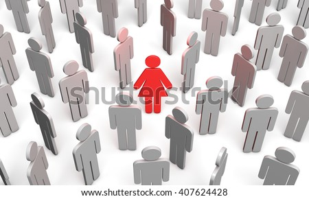 Standing Out from the Crowd. Available in high-resolution and several sizes to fit the needs of your project. 3d - stock photo