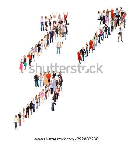 Standing Together Achievement Idea  - stock photo
