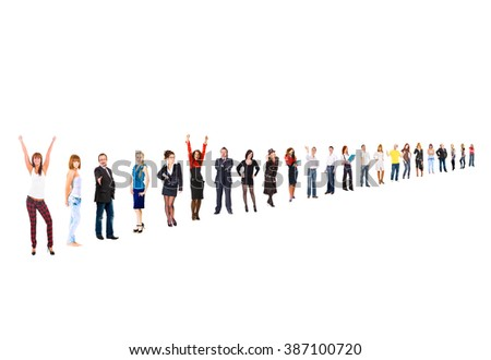 Standing Together Office Idea  - stock photo
