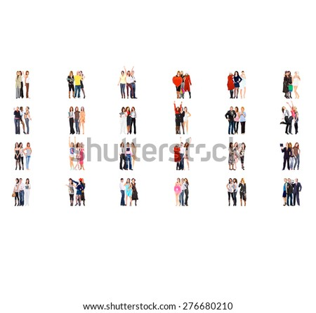 Standing Together Workforce Concept  - stock photo