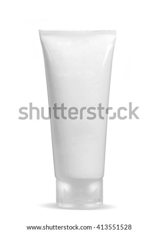 Standing White Tube with copy space isolated