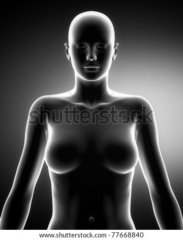Standing woman - stock photo