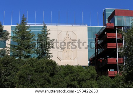 STANFORD, CA -Â?Â? MARCH 18: Stanford Stadium on the campus of Stanford University located in Stanford, California on March 18, 2014. Stanford University is an elite private research university. - stock photo