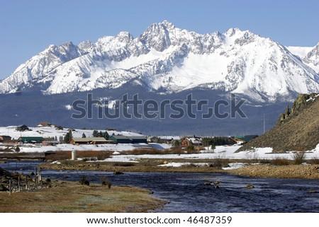 Stanley, Idaho - stock photo