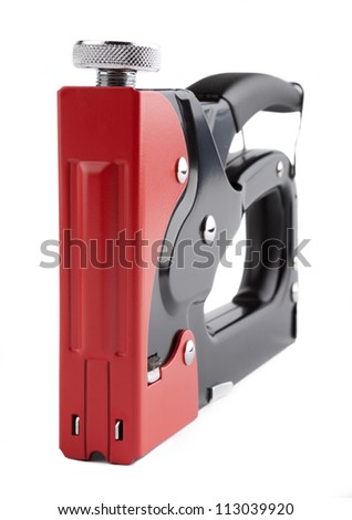 Staple Gun on a white background. isolated image