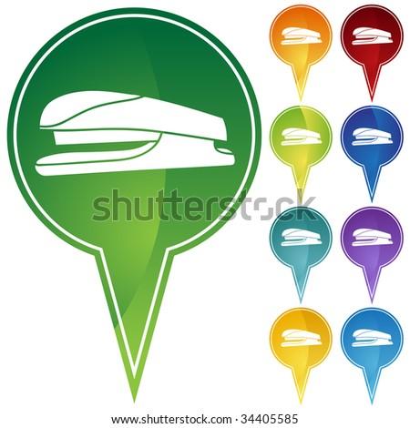 stapler icon pin - stock photo