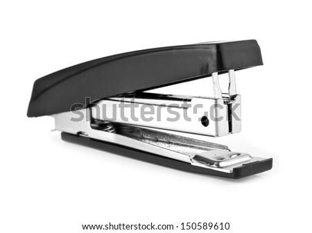 stapler on a white background - stock photo