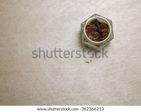 Star anise and a jar shot from top
