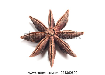 star anise. isolated on a white background - stock photo