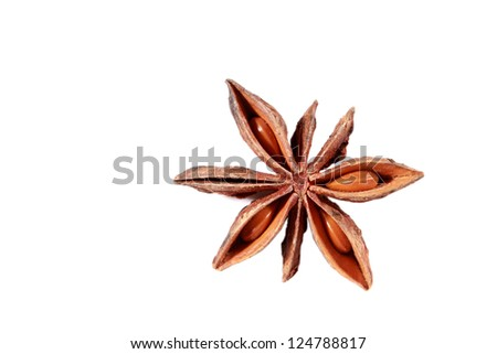 Star anise isolated on the white