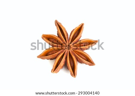 star anise on white photo