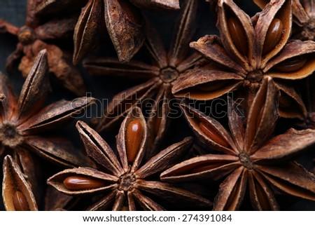 Star anise seeds - stock photo