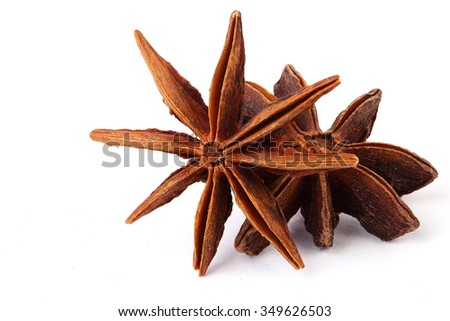 Star anise spice,isolation,selective focus