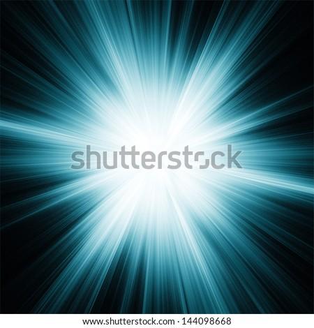 Star burst on black background. Abstract illustration. - stock photo