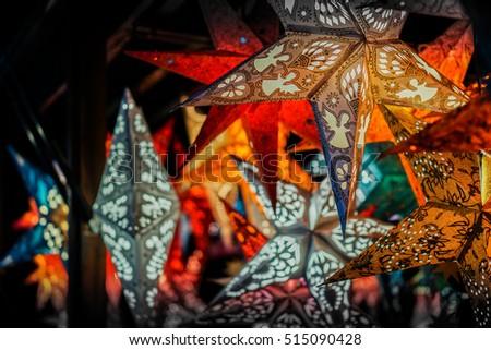 Star Christmas Paper Lantern
