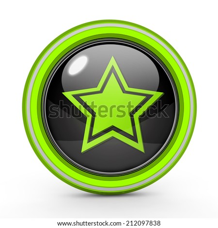 Star  circular icon on white background