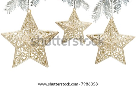 Star decoration on white background - stock photo