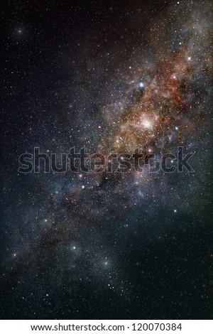 Star-field in deep outer space - stock photo