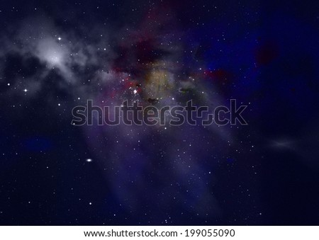 "Star field in space, a nebulae and a gas congestion. ""Elements of this image furnished by NASA""."