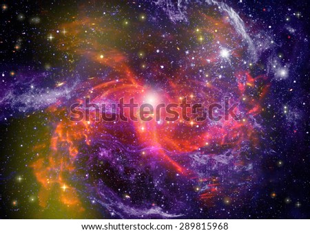 "Star field in space a nebulae and a gas congestion. :Elements of this image furnished by NASA"". - stock photo"