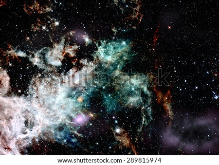 """Star field in space a nebulae and a gas congestion. :Elements of this image furnished by NASA"""". - stock photo"""