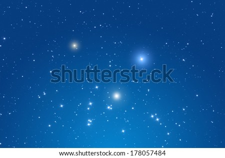 Star field in the Milky Way.  - stock photo