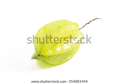 star fruit isolated
