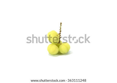 star gooseberry fruits on white background.