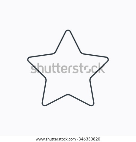 Star icon vector illustration linear symbol stock vector 614152937 star icon add to favorites sign astronomy symbol linear outline icon on white sciox Images
