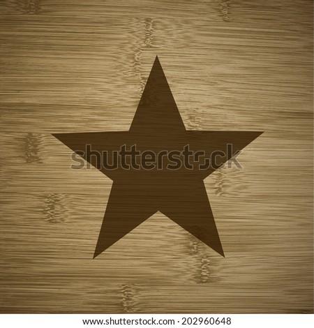 star icon Flat with abstract background. - stock photo