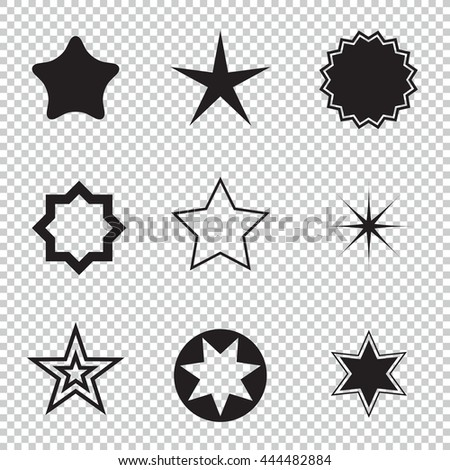 Star icons. Concept rating, success, awards. Collection star pictogram. - stock photo
