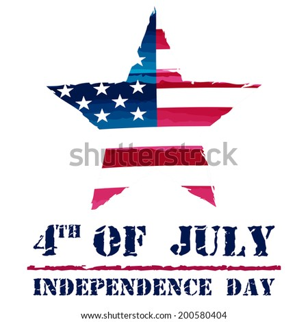 star in USA drawing flag and 4th of July - Independence Day, american holiday concept - stock photo