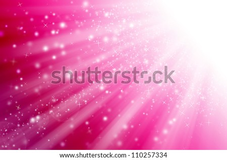 star light with pink background. - stock photo